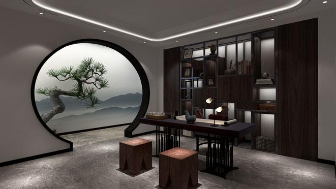 北京院子新中式茶室别墅装修效果图