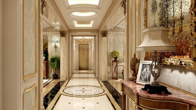 远洋天著法式新古典别墅装修效果图