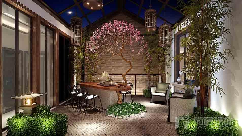 北京院子混搭花园别墅装修效果图