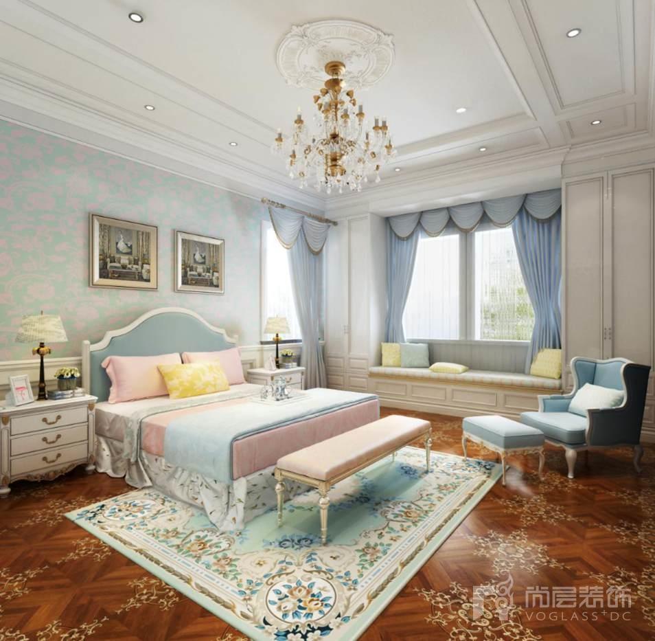 碧水庄园法式新古典女儿房别墅装修效果图