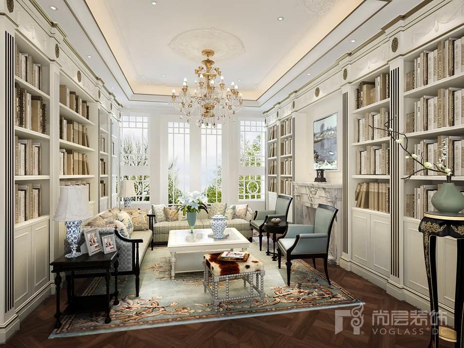 碧水庄园法式新古典起居室别墅装修效果图