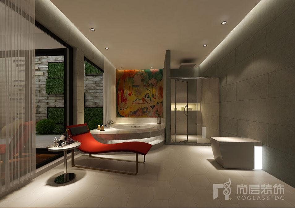 北京院子现代地下SAP区别墅装修效果图