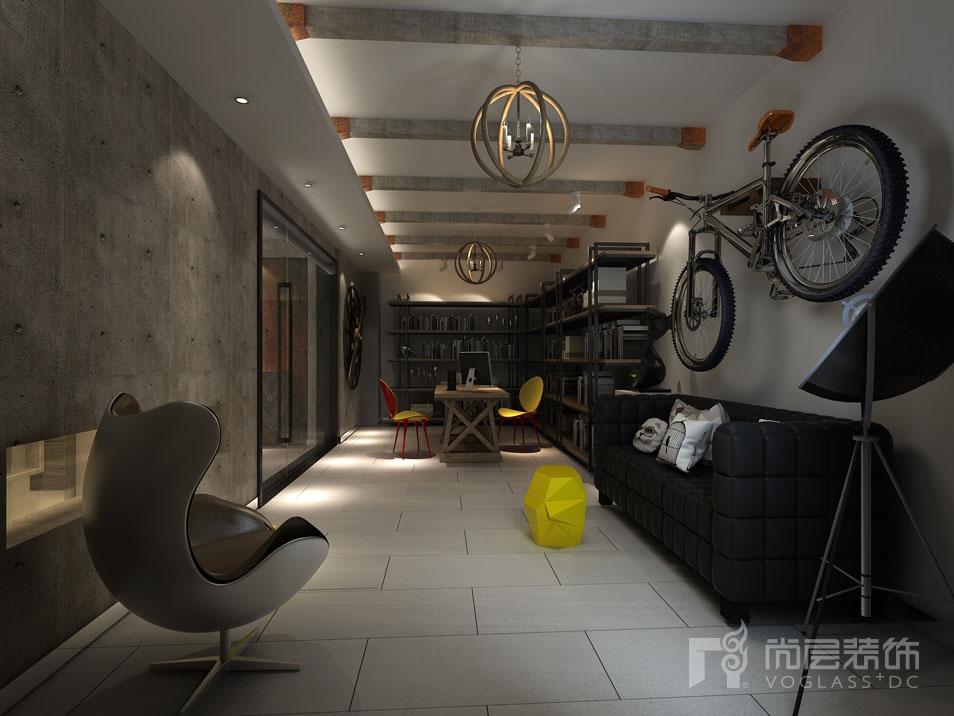 北京院子现代地下工作室别墅装修效果图