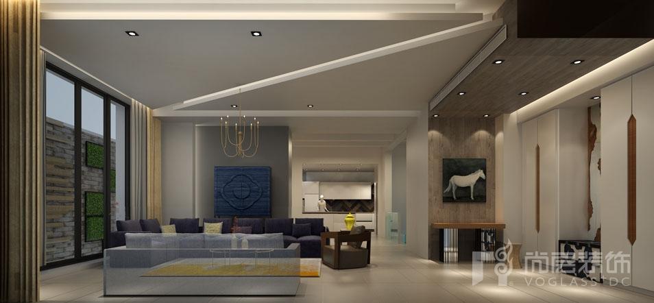 北京院子现代会客厅别墅装修效果图