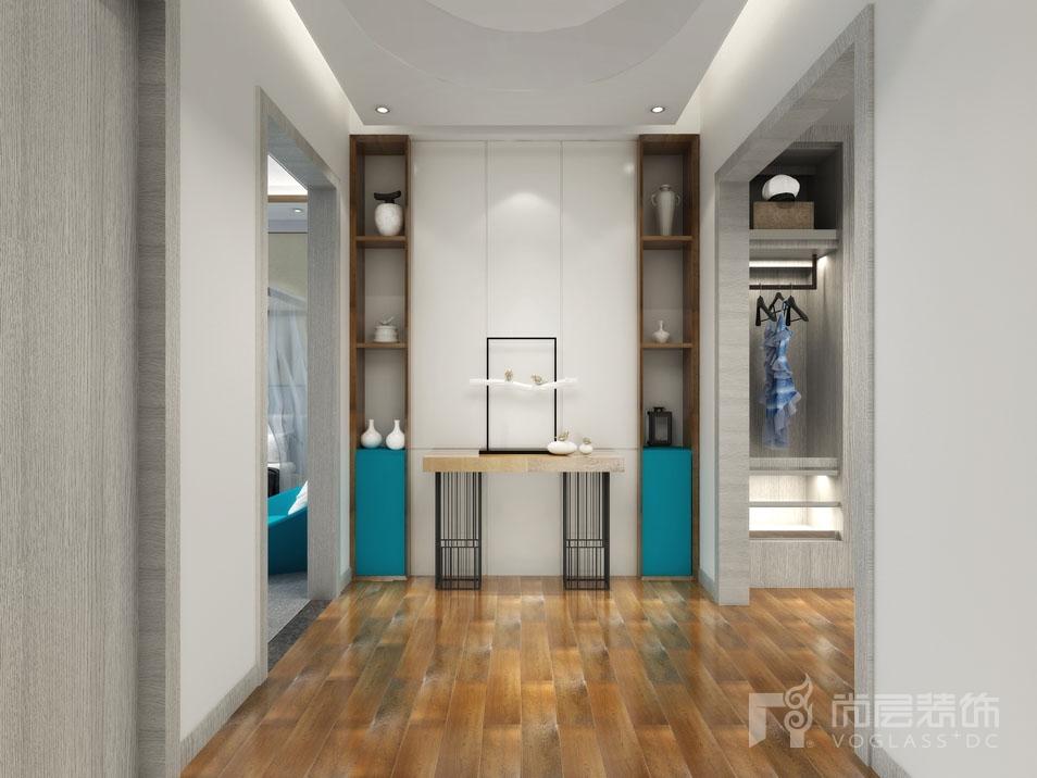 北京院子现代三层玄关别墅装修效果图
