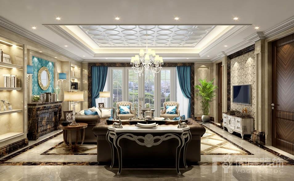 远洋天著新古典客厅别墅装修效果图