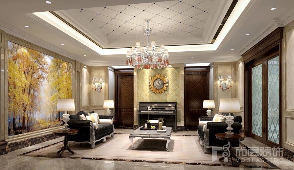 远洋天著新古典会客厅别墅装修效果图