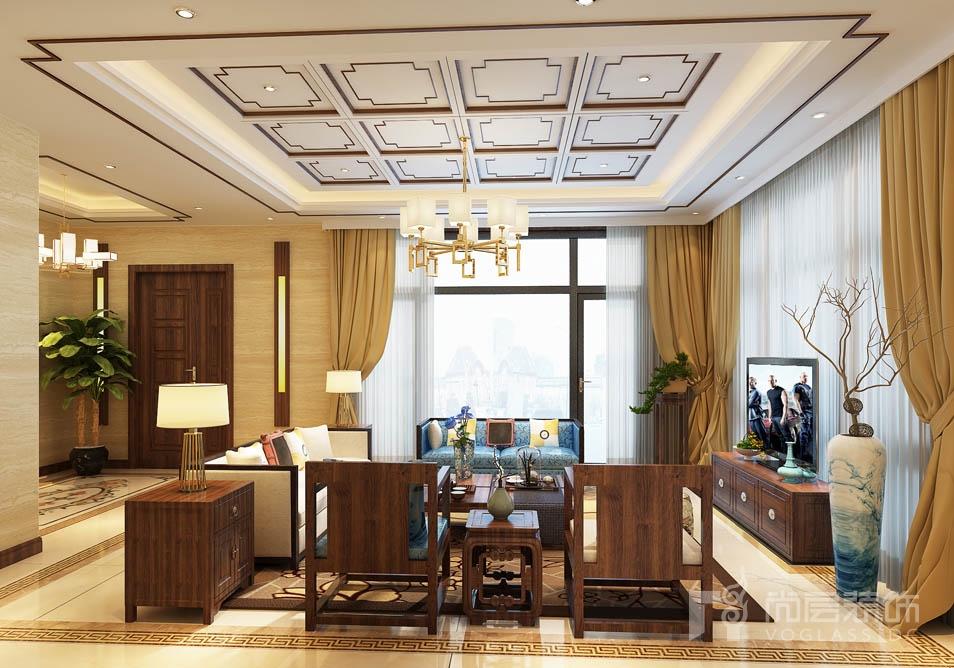 北京院子欧式客厅别墅装修效果图