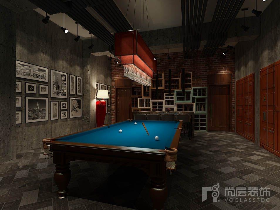 香山清琴新古典台球区别墅装修效果图