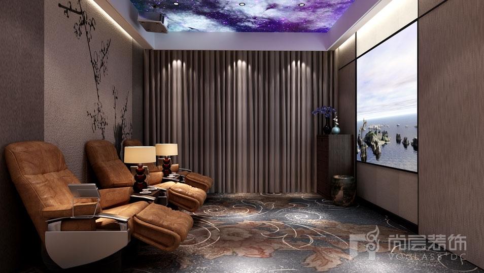 远洋天著新中式影音室别墅装修效果图
