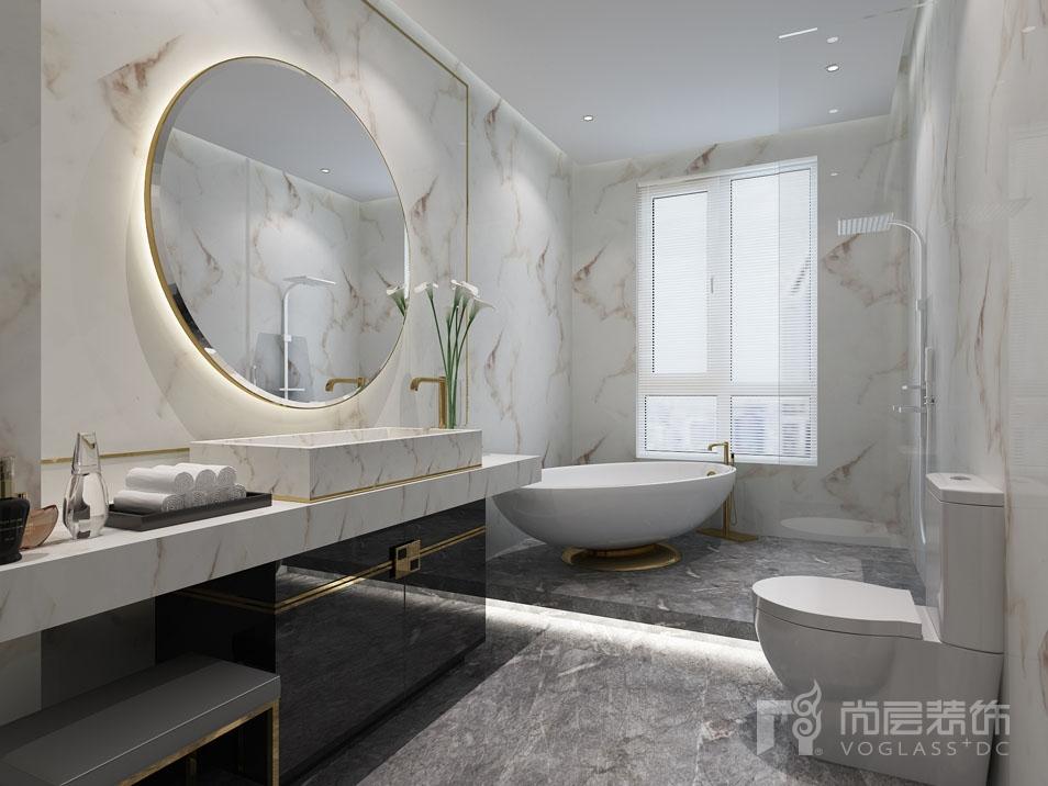 北京院子新中式三层卫生间别墅装修效果图