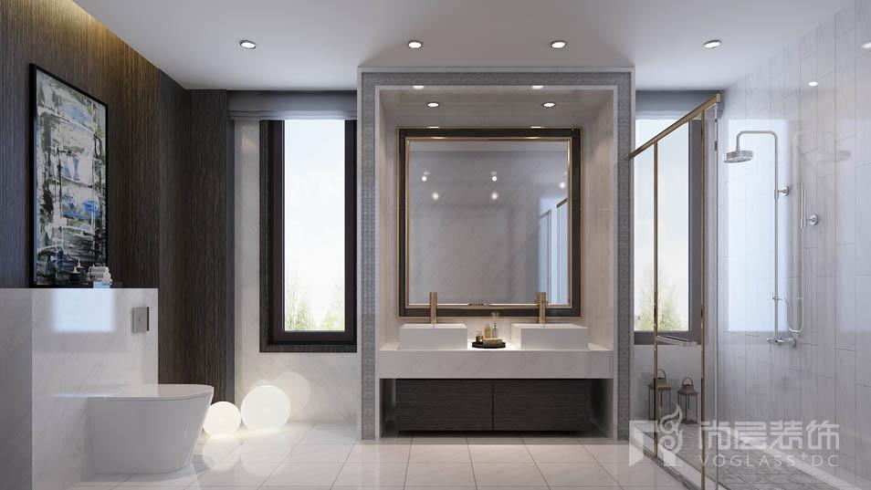 北京院子新中式卫生间别墅装修效果图