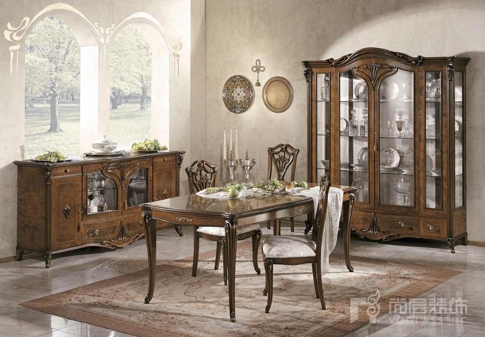 尚层装饰合作品牌GRILLI古典奢华系列餐厅