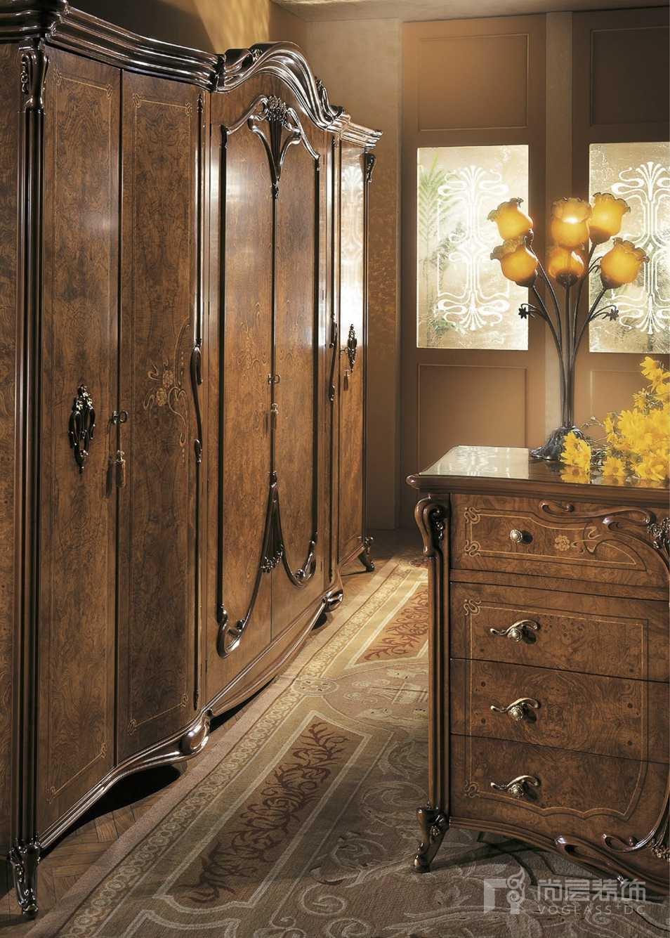 尚层装饰合作品牌GRILLI古典奢华系列衣柜
