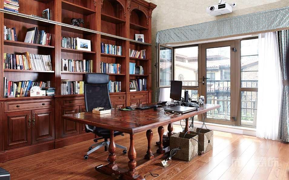 万通新新家园书房别墅装修实景图