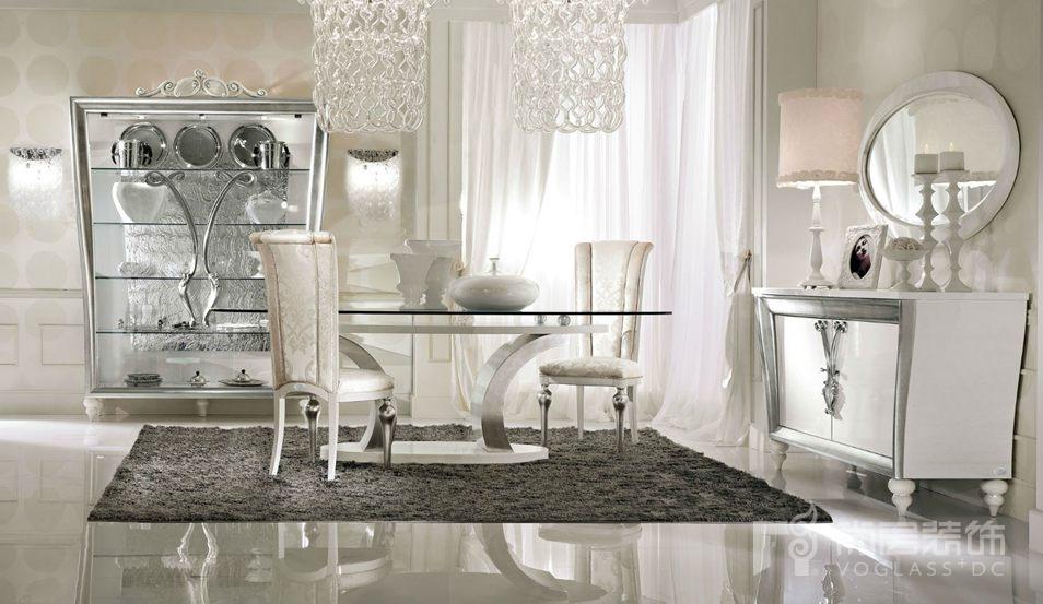 尚层装饰合作品牌Lanpas白色系列餐厅