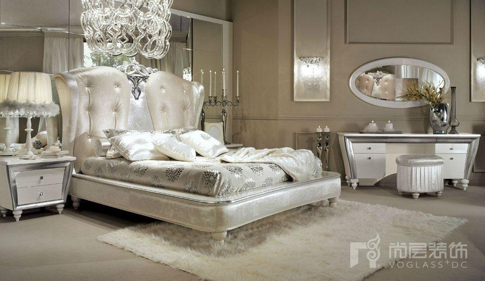 尚层装饰合作品牌Lanpas白色系列卧室