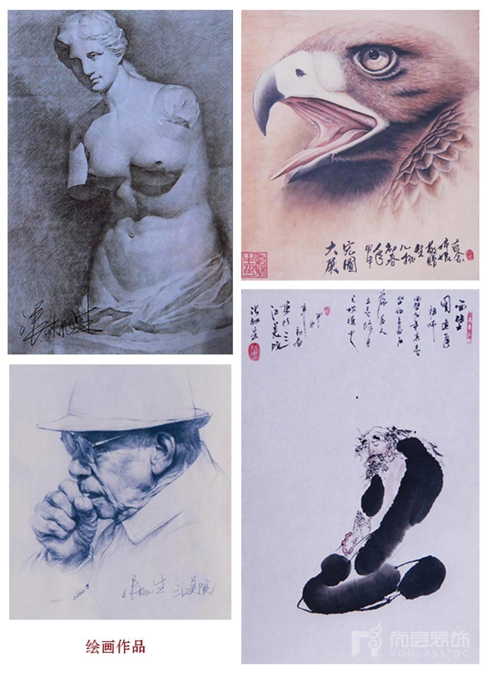 别墅装修设计师张桃生的绘画作品