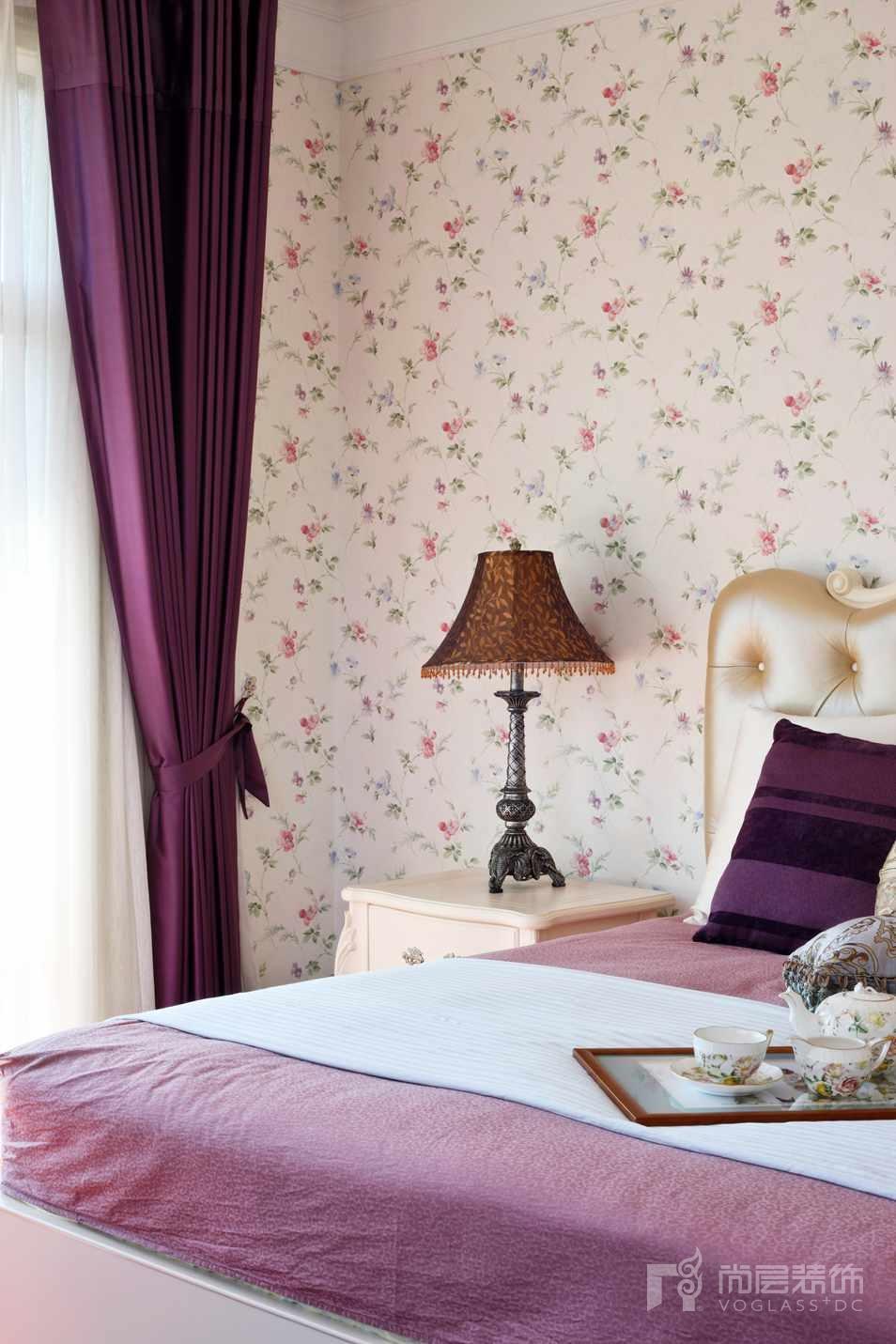 君山高尔夫美式卧室别墅装修实景图