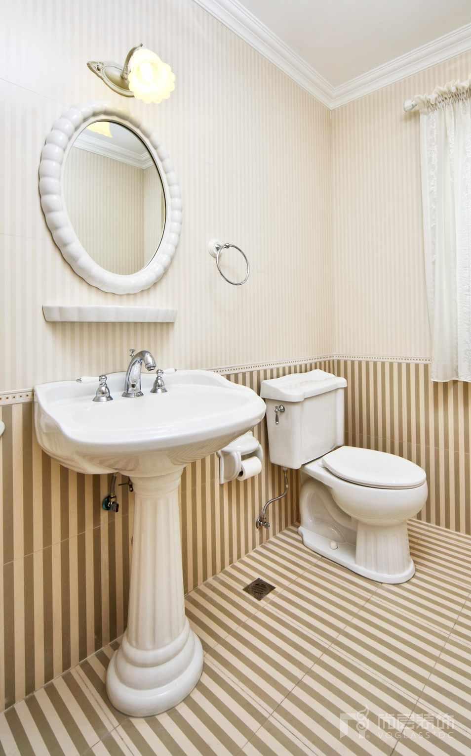 君山高尔夫美式卫生间别墅装修实景图