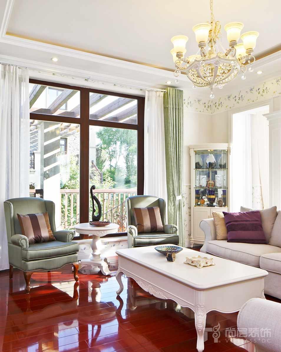 君山高尔夫美式家庭室别墅装修实景图