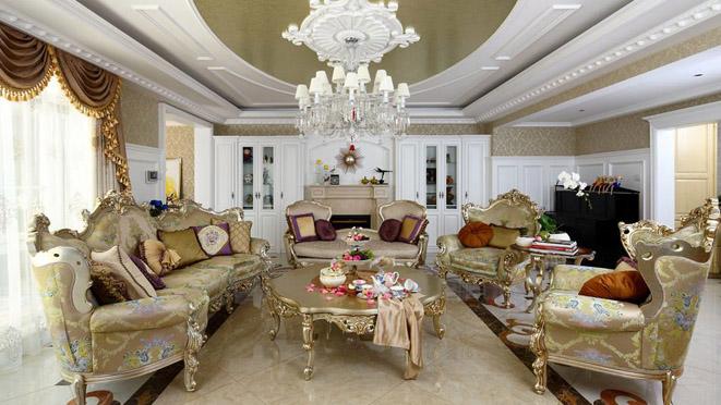 海棠公社法式与美式混搭别墅装修设计效果图