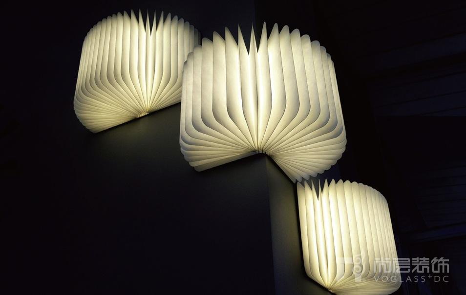 尚层装饰别墅生活书本形状的便携灯