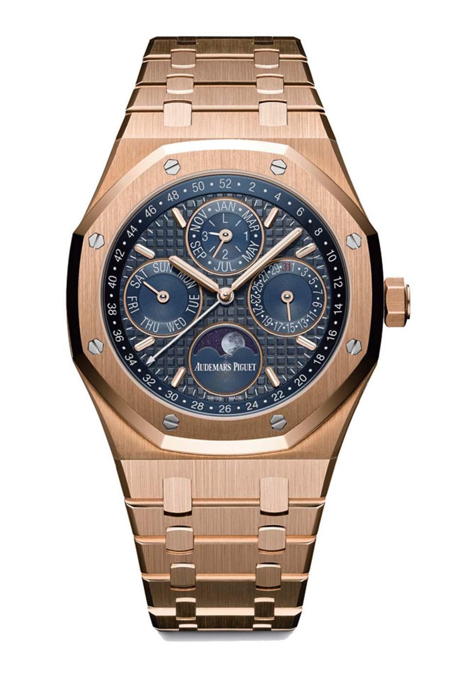 尚层装饰别墅生活爱彼皇家橡树系列万年历腕表