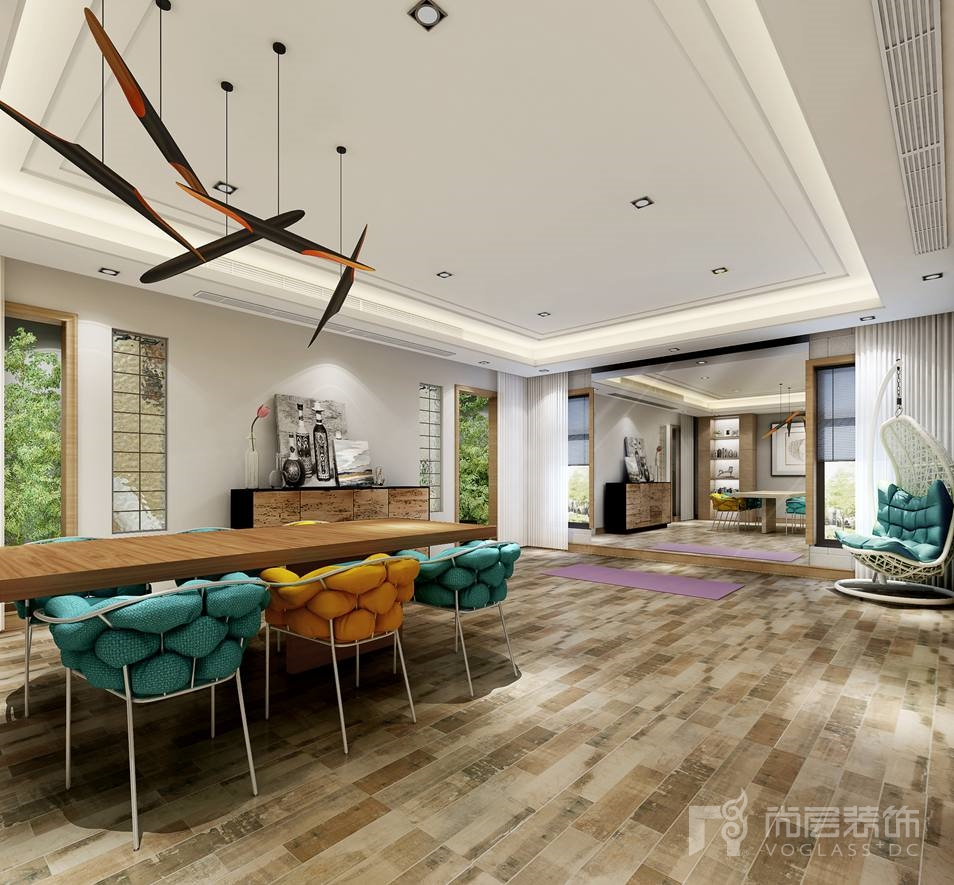 中海尚湖世家现代娱乐室别墅装修设计效果图