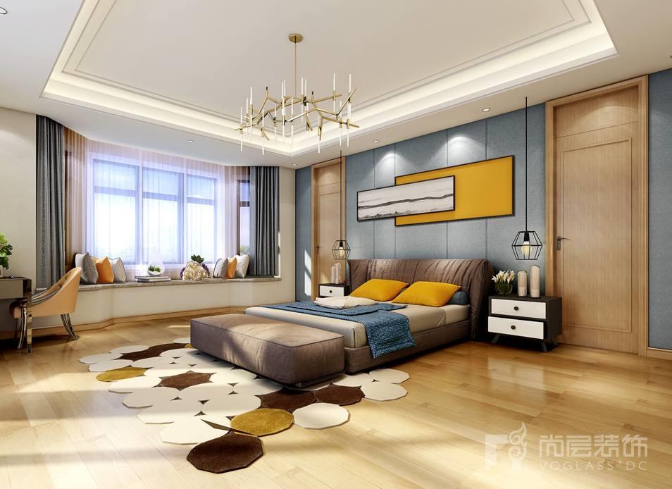 中海尚湖世家现代主卧别墅装修设计效果图