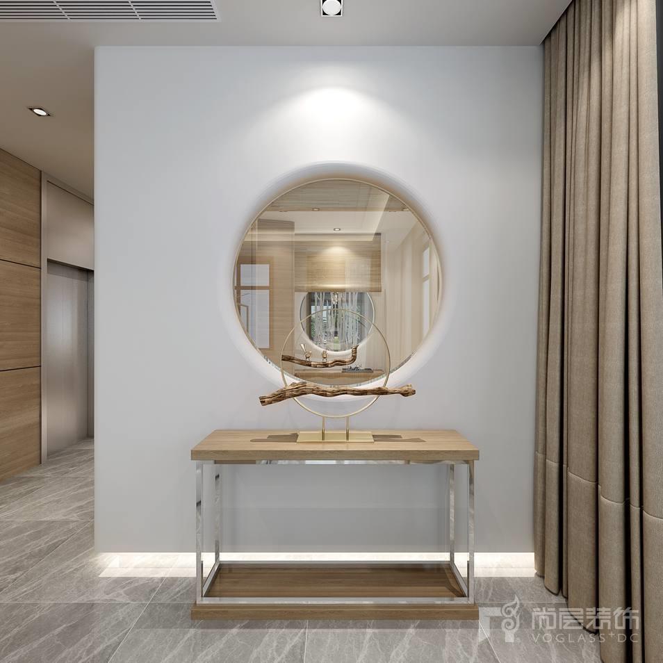 中海尚湖世家现代门厅别墅装修设计效果图