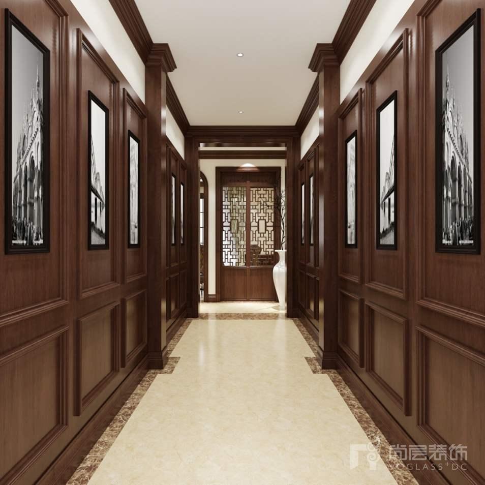 温哥华森林新中式别墅门厅装修实景图