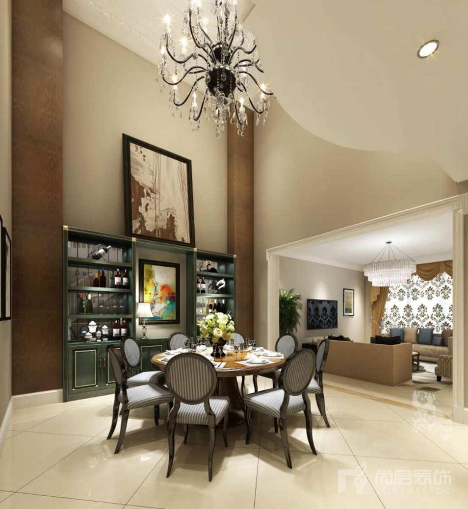 首创国际半岛美式餐厅2别墅设计装修效果图