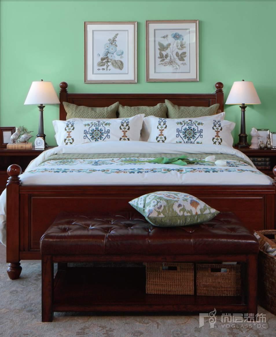 尚层装饰别墅生活暖绿卧室