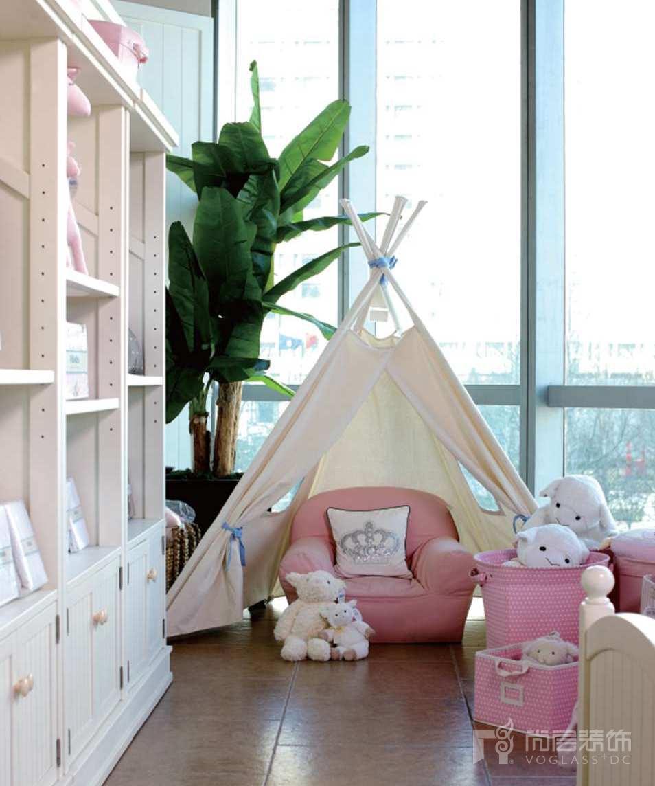 尚层装饰别墅生活粉色女儿房