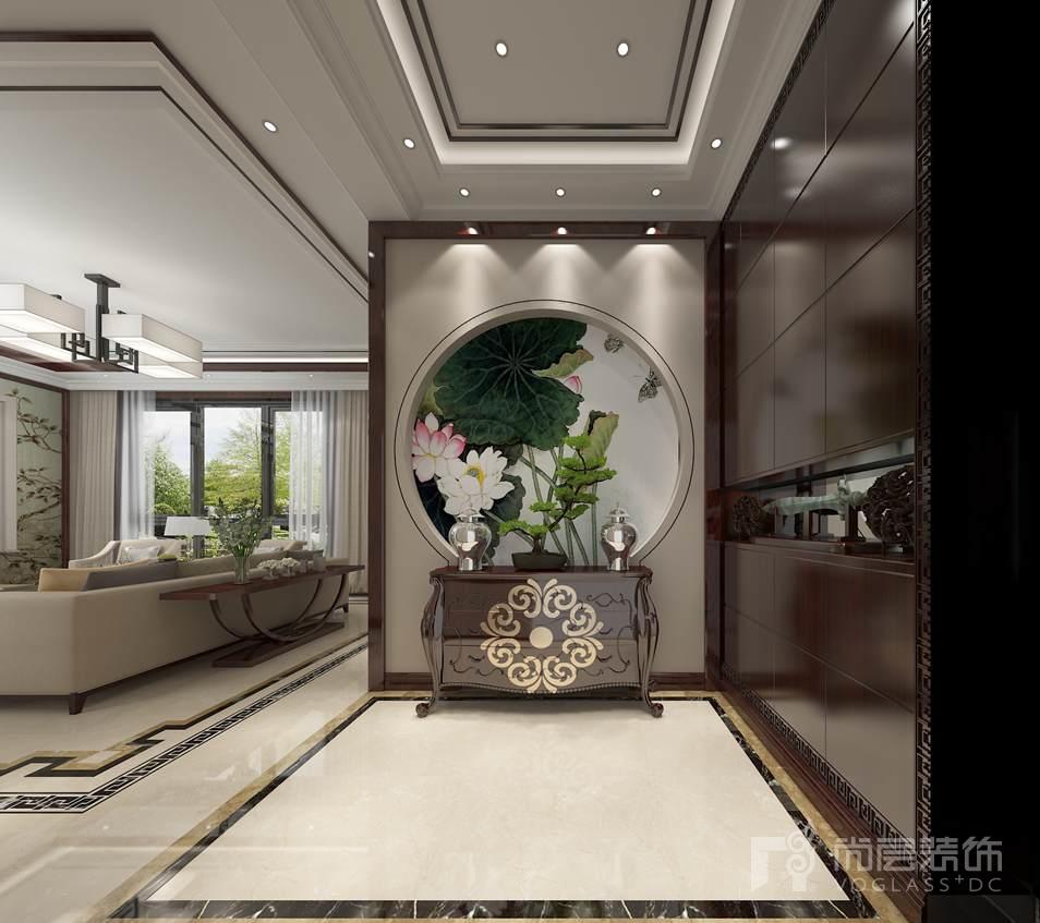 北京院子新中式门厅别墅装修效果图