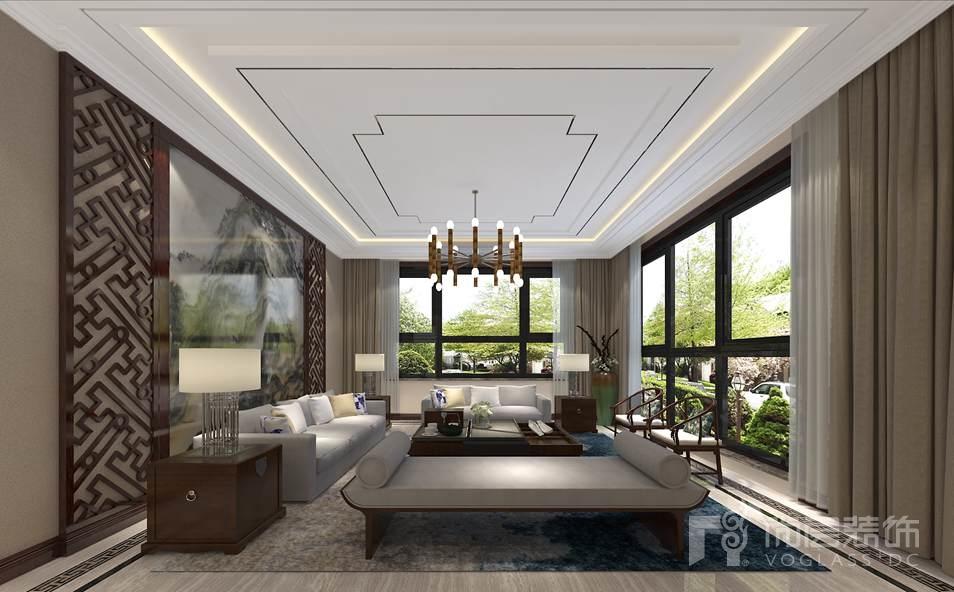 北京院子新中式家庭室别墅装修效果图