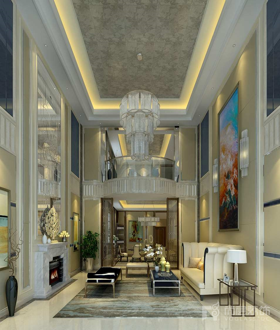 新世界·丽樽新装饰主义客厅别墅装修效果图