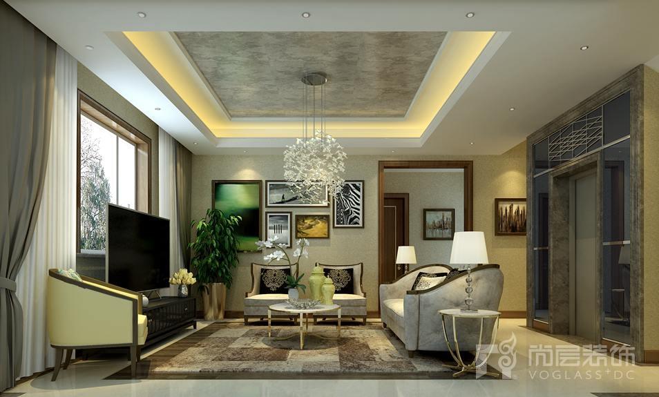 新世界·丽樽新装饰主义起居室别墅装修效果图