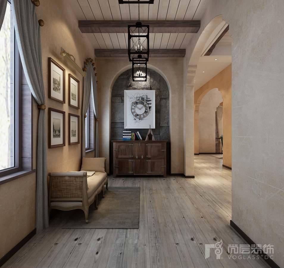 棕榈滩美式门厅别墅装修效果图