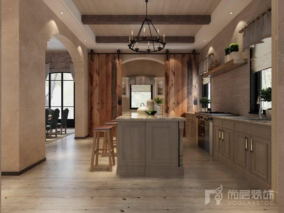 棕榈滩美式门西厨别墅装修效果图