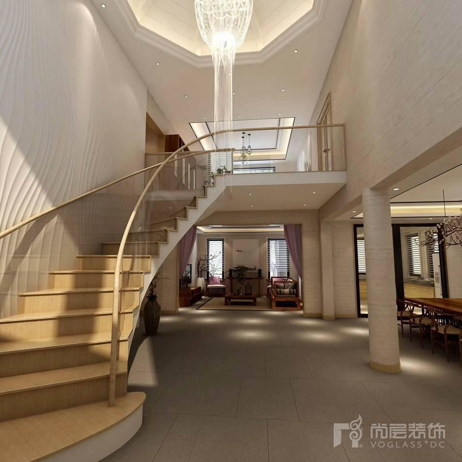 Dear Villa新中式楼梯间别墅装修效果图