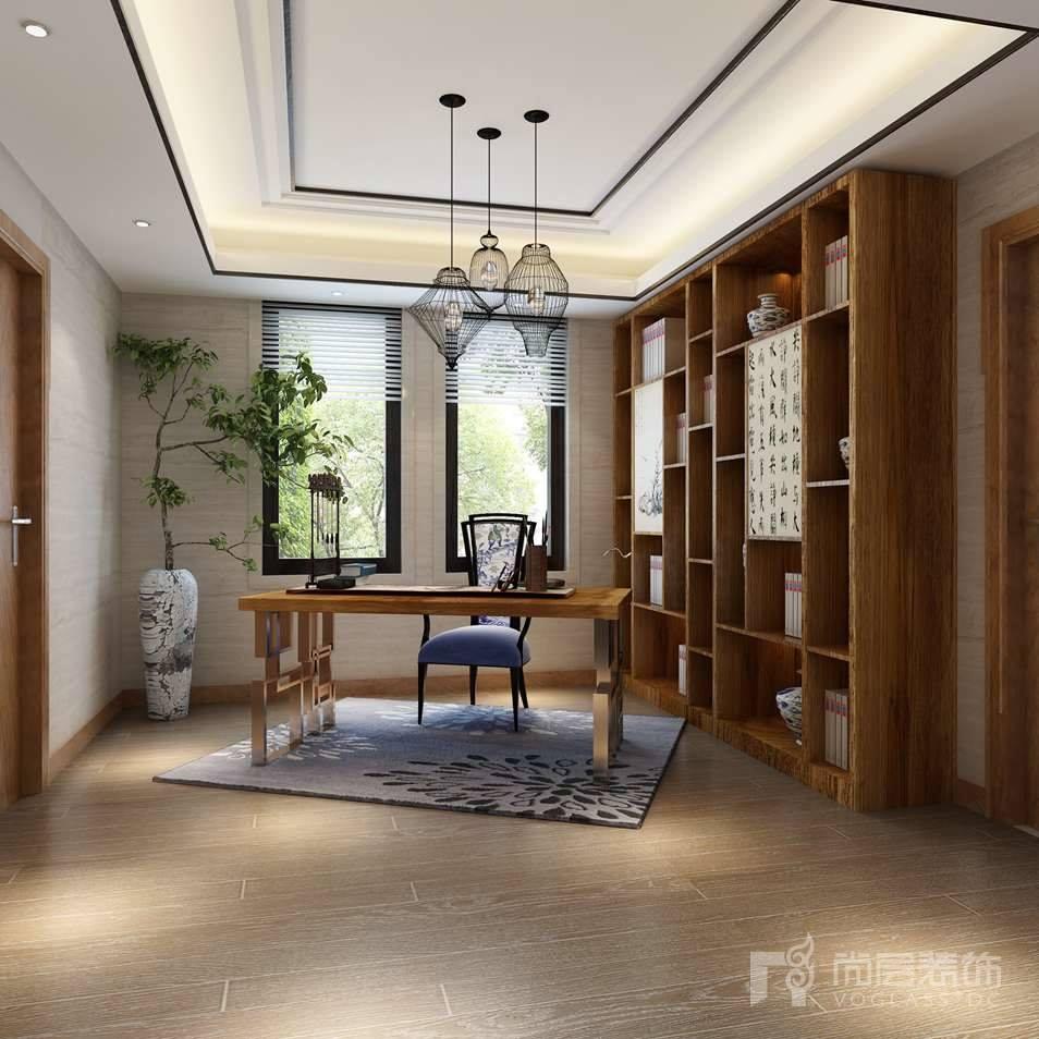 Dear Villa新中式书房别墅装修效果图