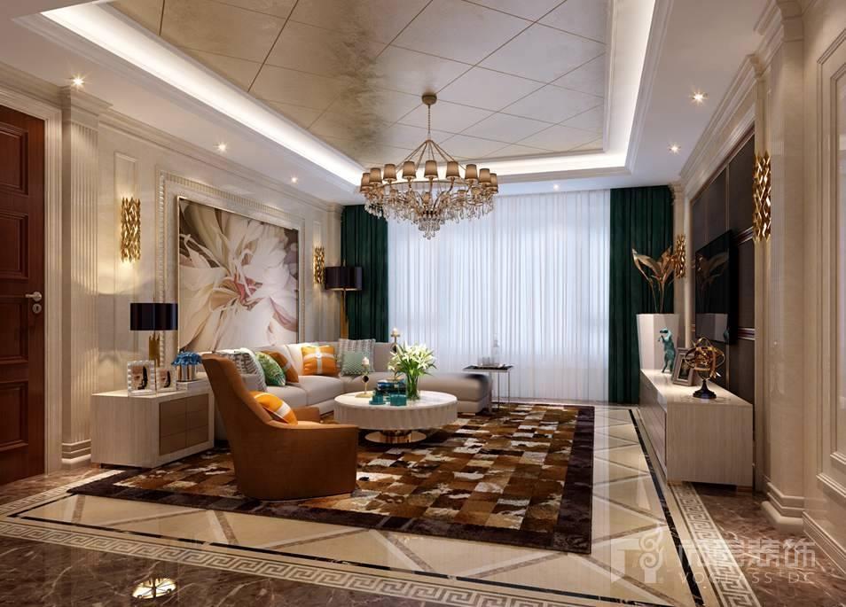 泛海国际新奢华客厅别墅装修效果图