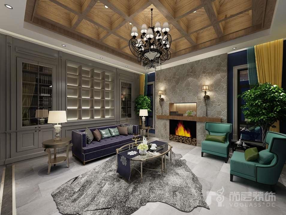 红橡树别墅装修客厅效果图
