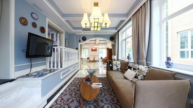 名都园现代美式别墅装修实景图