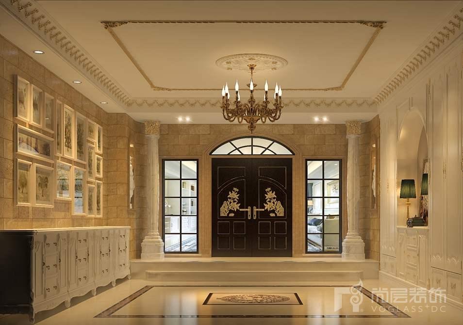 棕榈滩法式门厅别墅装修效果图