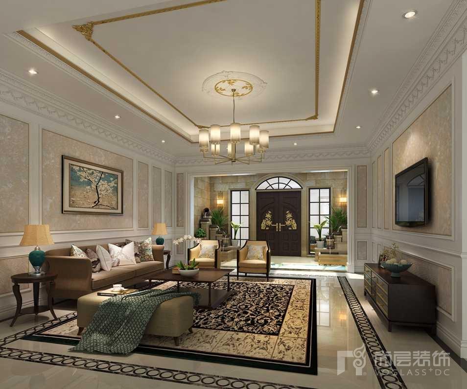 棕榈滩法式家庭室别墅装修效果图