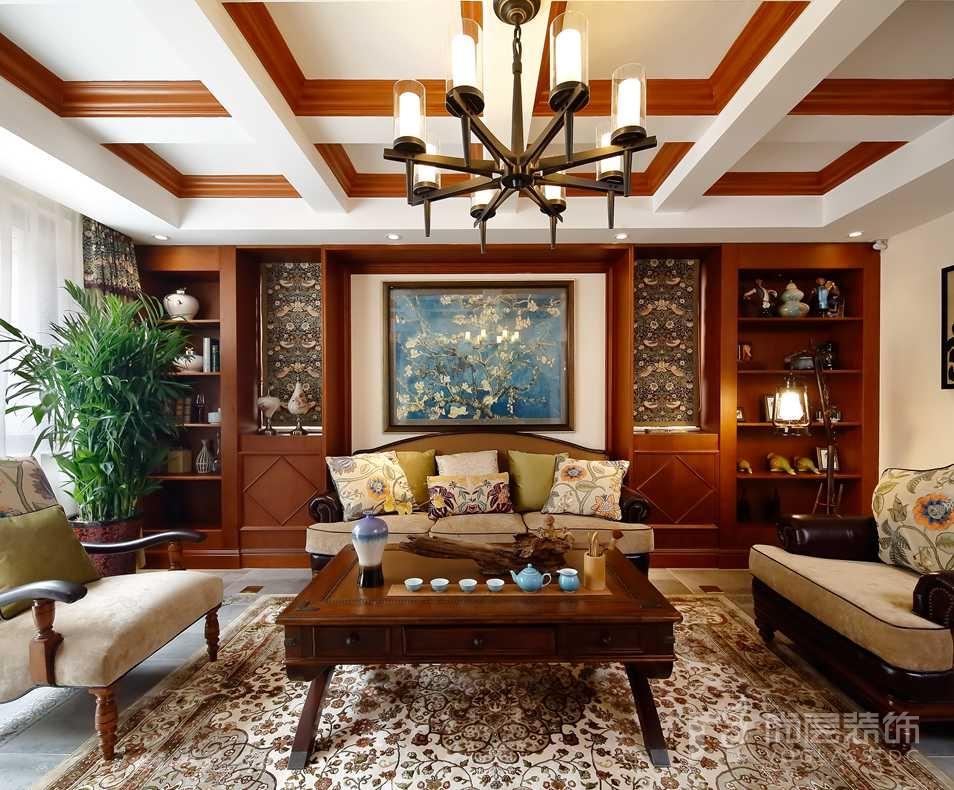 棠墅美式家庭室别墅装修实景图