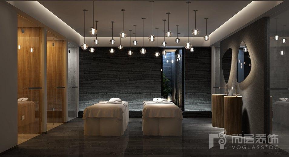 御汤山现代简约spa室别墅装修效果图